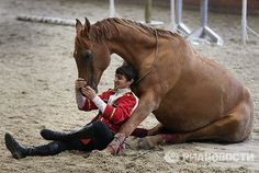 Each rider has his or her personal horse. Unit horses, primarily of the traditionally Russian Don and Budyonny breeds, are aged from five to 17 years.