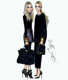Hayden Williams Illustrations  Happy Birthday Mary-Kate & Ashley