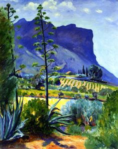 Henri Manguin - The Aloes in Bloom, Cassis , 1912