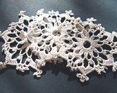 BUY 2 GET 3; Set of 6 delicate crochet snowflakes/appliques; Verlen crochet; Crochet decoration; Christmas decoration; Cottage chic deco