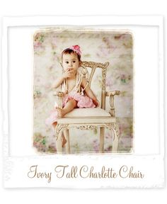 Tall Ivory Chair