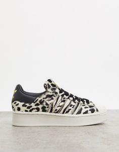 $90.0. ADIDAS ORIGINALS Sneaker Superstar Bold Platform Sneakers In Leopard Print-Multi #adidasoriginals #sneaker #platform #shoes