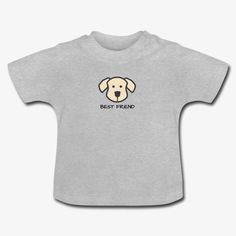 Hundefreund - Best Friends Baby T-Shirt  Kurzärmeliges T-Shirt für Babys, 100% Baumwolle, Marke: Baby Bugz Baby T Shirts, Onesies, Best Friends, Pullover, Clothes, Fashion, Cotton, Kids, Beat Friends