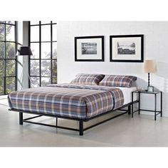 Queen Size Metal Bed Frame Modern Black Platform Bedroom Sleep Furniture Durable #QueenSizeMetalBedFrame #ModernContemporaryTransitional