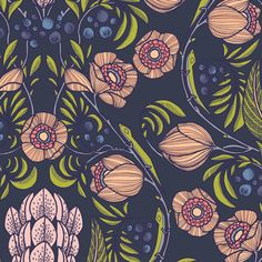 Extravagarden Bold from Luxe in Bloom by Sarah Watson for Art Gallery Fabrics