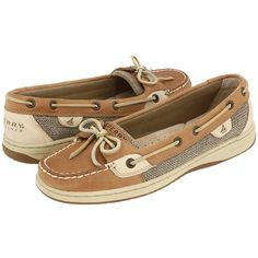 Sperry Top-Sider Angelfish (Linen/Oat) Women's Slip on  Shoes ($80) ❤ liked on Polyvore featuring shoes, flats, sperrys, sperry topsiders, boat shoes, slip on shoes, sperry top-sider shoes and flat shoes