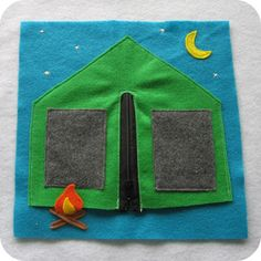 Quiet book-includes barn pg with finger puppets. Blog has link to templates!