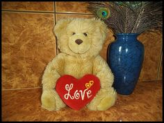 Vintage Teddy bear brown toy decoration baby gift