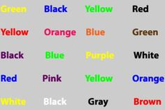 7 Great Ideas for Psychology Experiments: Stroop Effect Experiment