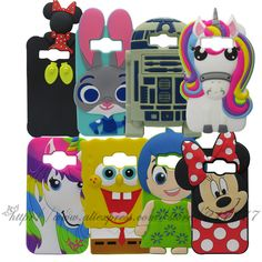 For Samsung Galaxy J1 Ace J110 3D Silicon Stitch Unicorn cake Minnie Sulley R2D2 Cartoon Back Case Cover For  Galaxy J1 Ace