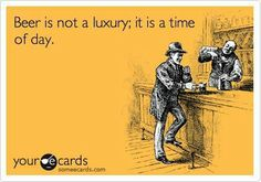 Beer is not a luxury