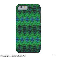 Strange green pattern tough iPhone 6 case