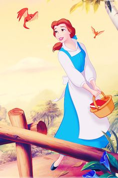 Belle - Beauty and the beast - disney wallpaper