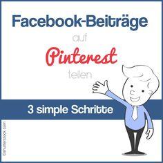 Lesen Sie hier, wie Sie Ihre Facebook Beiträge ganz einfach auf Pinterest teilen können http://www.handmadeprofit.com