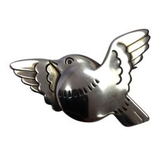 OH MY GOD, IT'S SO FAT I LOVE IT.    GEORG JENSEN Sterling Silver Bird Pin Brooch #320 | From a unique collection of vintage brooches at http://www.1stdibs.com/jewelry/brooches/brooches/