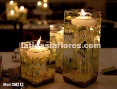#white dendrobium orchids #wedding #centerpiece
