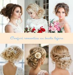 Coafuri mireasa updo cu bucle lejere Girls Dresses, Flower Girl Dresses, Wedding Hair Accessories, Updo, Wedding Hairstyles, Wedding Dresses, Hair Styles, Flowers, Fashion