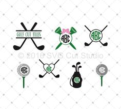 Golf SVG Cut Files for Cricut and Silhouette