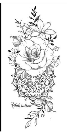 Half Mandala Tattoo, Mandala Flower Tattoos, Feminine Tattoo Sleeves, Feminine Tattoos, Floral Tattoo Design, Flower Tattoo Designs, Mommy Tattoos, Horoscope Tattoos, Christian Tattoos