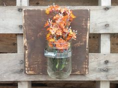 Country Shabby Chic Rustic Charm Mason Jar Wall by YouSaidWhat