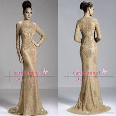2014 Hot Janique Mother Of The Bride Dresses Crew Neck Champagne Lace Long Sleeve Illusion Appliques Beads Mermaid Prom Evening Gowns Jq3411 Luxury Evening Dresses Plus Size Evening Dresses Australia From Earlybirdno1, $124.61  Dhgate.Com