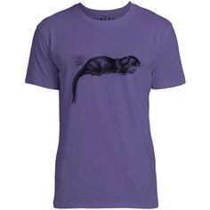 Mintage European Otter Mens Fine Jersey T-Shirt (Purple)