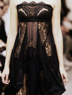 Very goth looking dress. I fucking love lace. Balenciaga ...