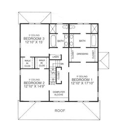 four square floor plans google search - Square House Plans