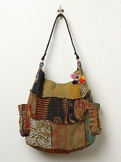 Free People Vintage Kanta Bag at Free People Clothing Boutique Textiles, Tote Handbags, Purses And Handbags, Hippie Purse, Art Bag, Boho Bags, Handmade Purses, Patchwork Bags, Beautiful Bags