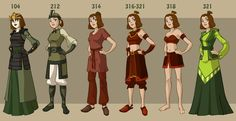 All Suki Costumes from Avatar the Last Airbender #avatar #cosplay #anime #costume