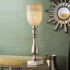Silver Elegance Torchiere Table Lamp
