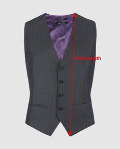 Drafting Instructions for Single-Breasted Waistcoat (sloper)