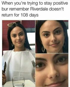 Or when ur trying to stay calm when they get your order wrong lmao 😂 Riverdale Memes, Riverdale Cast, Riverdale Season 2, Riverdale Funny, Betty And Jughead, Netflix Series, Shows On Netflix, Series Movies, River Dale
