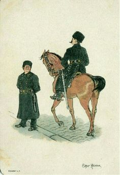 Kunstnerkort OTHAR HOLMBOE. 2 politikonstabler utg Abel postgått 1896