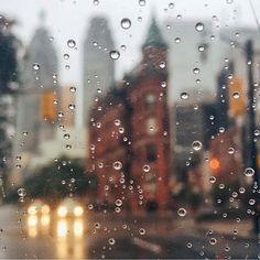 Immagine di rain, city, and drops