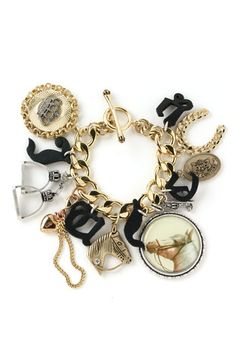 Juicy Couture Equestrian Charm Bracelet Love this chain love rodeos perfect for some arm candy with a cute outfit -yadira- ❤