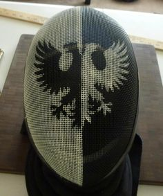 Painted fencing helmet, give the idea of what can be achieved, with out loosing too much vision. Description from forums.robertsspaceindustries.com. I searched for this on bing.com/images