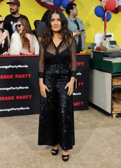 Pin for Later: It's So Obvious Why Victoria Beckham Would Approve of Salma Hayek's Party Pants