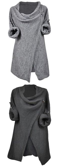 Discover basic top which is comfortable, versatile and affordable~ A staple for any wardrobe. Chic asymmetric design and knitting top~ You'll love this causual style.