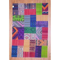 Herat Oriental Afghan Hand-woven 1960s Semi-antique Tribal Patchwork Wool Kilim (7' x 10'6) (Afghan Hand-knotted Area Rug), Multi (Natural Fiber, Geometric)