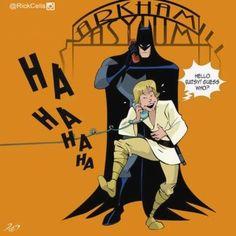 Arkham Asylum: A Batman-Star Wars mashup by Rick Celis Im Batman, Batman Humor, Prank Calls, Arkham Asylum, Eruri, Mark Hamill, Thundercats, Popular Culture, Dark Knight