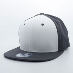 5bcb0d6b0ea Shop Charcoal Grey and White Triple Two Pit Bull Blank 6 Panel Cotton Snapback  Hats Wholesale