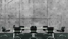 Concrete Wall (HD) : Great selection of unique and exclusive wallpaper murals. Our murals are prepasted, dry strippable and reusable. Interior Walls, Interior Design, Wall Hd, Wall Design, House Design, Adhesive Wallpaper, Wallpaper Murals, Luxury Office, Black And White Wallpaper