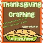 ●The baker has all his orders in for Thanksgiving. Help him count how many of each pie he needs to bake for his customers.Differentiated, Pictorial,Tally, bar Graphs