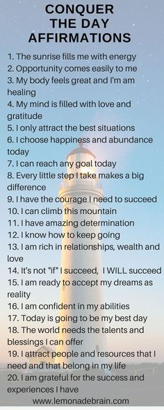 Start The Day Off With Affirmations - Lemonade Brain Positive Affirmations Quotes, Self Love Affirmations, Morning Affirmations, Affirmation Quotes, Positive Quotes, Mantra, Life Quotes Love, Self Care Activities, New Energy
