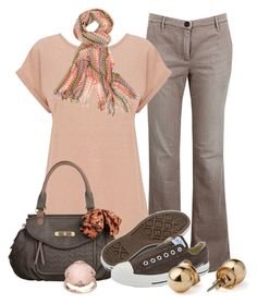"""""""Casual Sunday"""" by my-pretend-closet ❤ liked on Polyvore featuring Brunello Cucinelli, Oasis, Nica, Converse, American Apparel, Missoni and Lavish by TJM"""