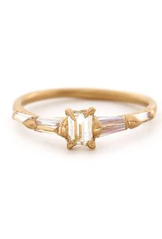Brides: Yellow Gold Engagement Rings