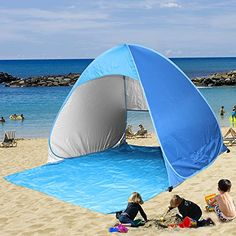Kany Portable Outdoor Automatic Pop Up Instant Quick Cabana Beach Tent Sun Shelter Canopy Sun Shade Sport Shelter Family Kids Baby Outdoor Camping Fishing Picnic Hiking * Be sure to check out this awesome product.Note:It is affiliate link to Amazon.