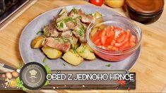 FAMÓZNÍ OBĚD Z JEDNOHO HRNCE! ÚŽASNÁ VEPŘOVÁ KRKOVIČKA S CIBULÍ A BRAMBOREM! URČITĚ VYZKOUŠEJTE! ❤️ - YouTube One Pot, Potato Salad, Onion, Pork, Potatoes, Vegetables, Ethnic Recipes, Youtube, Kitchens
