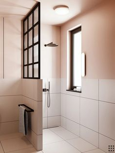 Eclectic bathroom with pink walls by Zrobym Architects